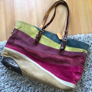 COACH Wave Leather Suede LTD Edition Tote 💥👜